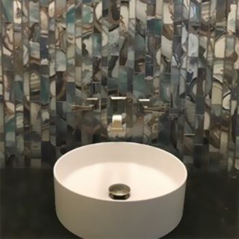 Local Install Glass Mosaic | Byrd Tile