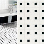 Chloe White with Black Clot | Byrd Tile Bathrooms