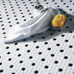 "1"" Hex White with Black Dot 