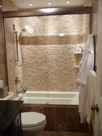 Split Face Marble 1x2 | Byrd Tile Bathrooms