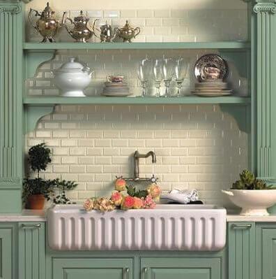 Sonoma Beveled Byrd Tile Kitchens