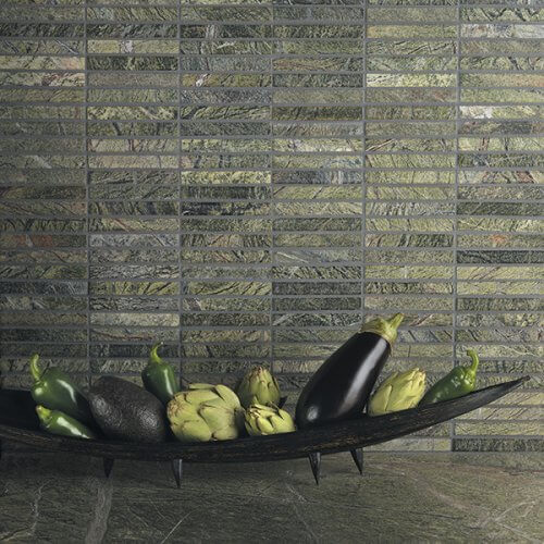 Island Stone Rain Forest Byrd Tile Kitchens
