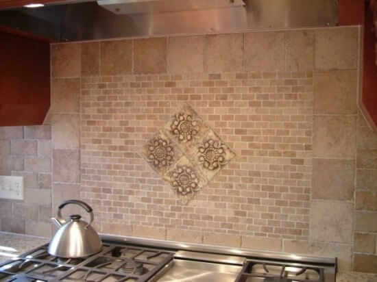 Travertine Byrd Tile Kitchens
