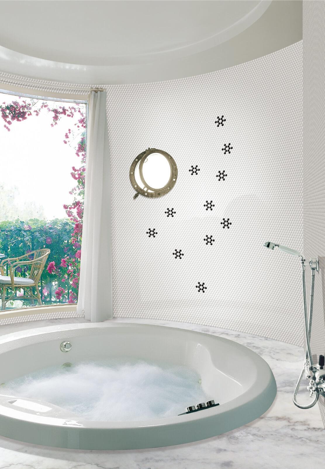 Penny round matte white - Byrd Tile