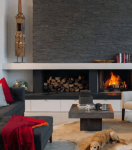 Red in Home - Charcoal Shadowstone Realstone Cladding Collection