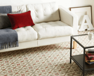 Red in Home - Epoque Rose Tile Odyssey Grande Collection