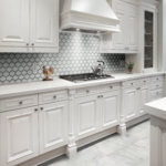 Element Ice Arabesque Glass Mosaics by Byrd Tile